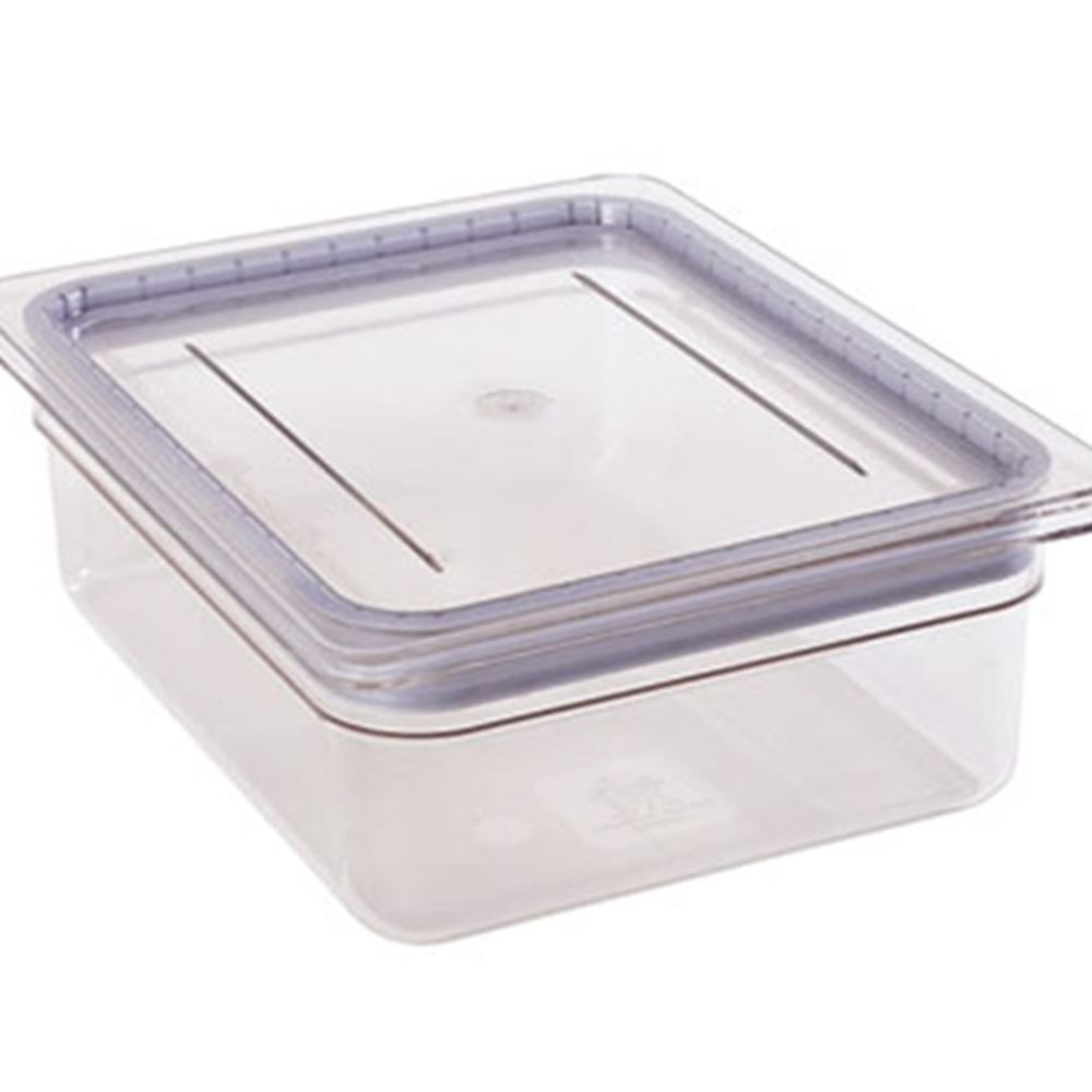 Cambro - Half 1/2 Size Food Pan GripLid Cover Clear Cold | Public Kitchen Supply
