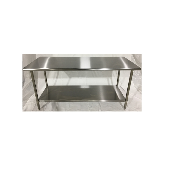 Iron Guard-Work Table All SS 30 X 96, 430-16GA with 18GA Undershelf Public Kitchen Supply